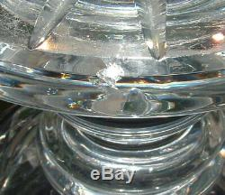 Rare 10 Waterford Cut Crystal Georgian Thistle Footed Vase Master Cutter
