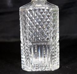 Rare 9.75 H Waterford Cut Crystal Giftware Decanter, Signed, Square Whiskey