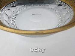 Rare Antique Art Deco Moser Crystal Splendid Cut Bowl Signed 7.5 Inch Diameter