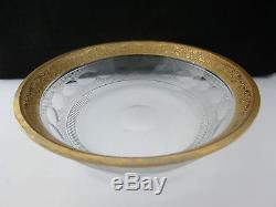 Rare Antique Art Deco Moser Signed Crystal Splendid Cut Bowl 7.5 Inch Diameter