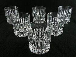 Rare Antique BACCARAT Finest Flawless Crystal 6 x Whiskey Tumbler with Deep Cut