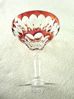 Rare Antique BACCARAT Flawless Crystal 6 x Multi-Color Champagne Goblet Deep Cut