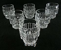 Rare Antique BACCARAT Flawless Crystal 6 x Whiskey Tumbler with Cut Panels