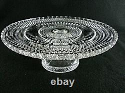 Rare Antique BACCARAT Flawless Crystal Cake Stand with Deeply Cut Pattern