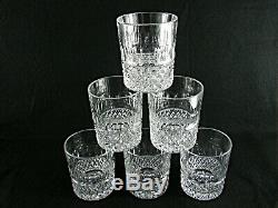 Rare Antique BACCARAT Flawless Crystal Set 6 x Whiskey Tumbler with Deep Cut