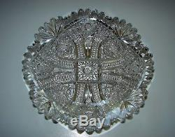 Rare COLUMBIA by BLACKMER ABP American Brilliant Cut Glass Crystal PLATE 7