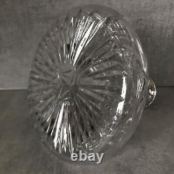 Rare Chantry Silversmith Ships Decanter Cut Crystal Sterling Silver Collar Label
