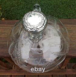 Rare Hawkes Rye American Brilliant Period Cut Crystal 7 1/2 Ships Decanter