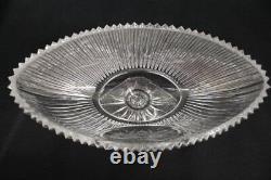 Rexxford J. WETTINGER Hand Cut Crystal Pedestal CENTERPIECE Oval Bowl Nr. 057/100