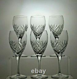 Royal Doulton Crystal Juliette Cut Sherry Port Glasses Set Of 6 5 7/8 Tall