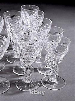 Royal Leerdam Cut Crystal Stemware Set Netherlands 64 Pieces Ship Worldwide