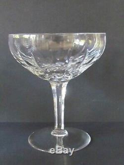 SET OF SIX CUT CRYSTAL CHAMPAGNE GLASSES C1940/1950 (Ref5098)