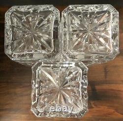 STUNNING BOMBAY COMPANY Mahogany Box with4 Beautiful Cut-Glass Crystal Decanters