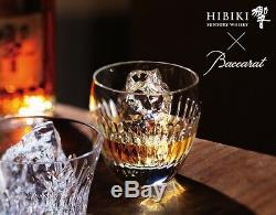 SUNTORY HIBIKI × Baccarat Whisky Crystal Tumbler 30 Face Cut Japan Limited F/S