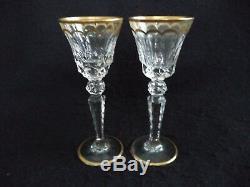 Saint Louis cut crystal Excellence 2 cordials liqueur stems glasses-3pairs total