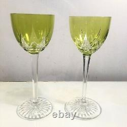 Set Of 11 Baccarat Cut-to-Clear Wine Glasses 7.5 Rare Pattern MINT Condition