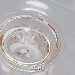 Set Of (8) Saint Louis Crystal Champagne Flutes Vertical Cuts & Gold Rim