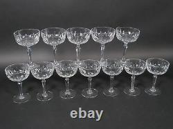 Set of 12 Tiffin-Franciscan Carlyle Tall Champagne Sherbet Cut Crystal Glasses