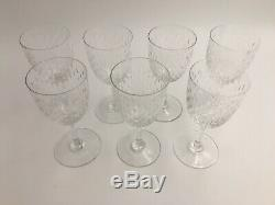 Seven (7) Baccarat PARIS Pattern Cut Glass Crystal 5 3/4 Claret Wine Goblets