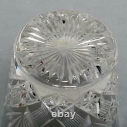 Six (6) Saint Louis Cut Crystal Double Old Fashioned Tumblers 4, Unmarked
