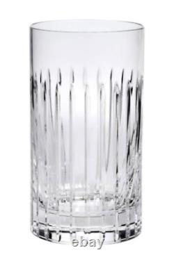 Soho Home Set of 6 Roebling Cut Crystal Highball Glasses