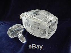 Stunning Mappin & Webb Sterling Silver & Hand Cut Crystal Decanter, Glass Signed