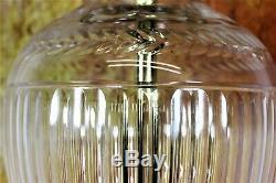 Table Lamp A Large Vintage English Stuart Crystal Cut Glass Antique Design Lamp