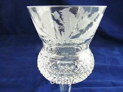 Thistle Cut Claret Wine Glass 4 1/2 By Edinburgh Crystal Scotland