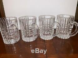 Tiffany & Co. Cut Crystal Mugs from Germany 4 GLASS CUPS NEW NWT SIGNED