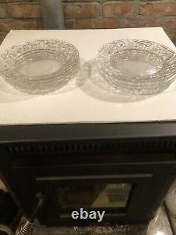 Tiffany & Co. Rock Cut Crystal 8 Salad Dessert Plate Set Of 8