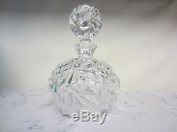 Tiffany and Co. Crystal Rock Cut Perfume Bottle New In Box Made In Germany
