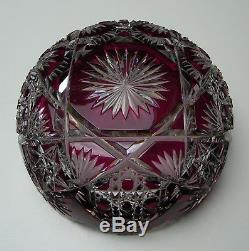 VAL ST LAMBERT c1910 COUPE CRISTAL TAILLÉ CUT TO CLEAR CRYSTAL BOWL ART GLASS
