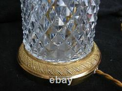 VINTAGE FRENCH CUT CRYSTAL, GILT BRONZE TABLE LAMP FOOT, 20th CENTURY