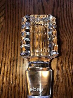 VINTAGE Waterford Crystal MASTER CUTTER Strawberry Cut Square Decanter 10 Rare