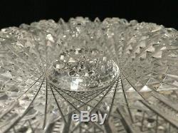 VTG ABP American Brilliant Detail Cut Crystal Glass Bowl, 8 1/4 D x 3 1/2 H