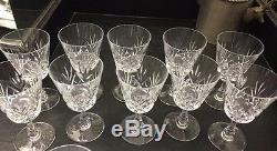 Vintage 10 VSL- Val St. Lambert Rochelle Cut Crystal Water Goblets