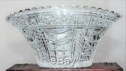 Vintage 1920's 30's Large STUART Heavy Lead Crystal Cut Glass Bowl Centrepiece