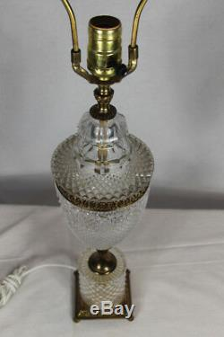 Vintage 28 Fancy Art Deco Cut Crystal or Glass Table Lamp