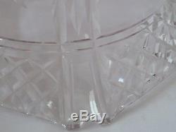 Vintage Antique Cut Glass Crystal Mushroom Table Lamp Light