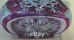 Vintage Baccarat Crystal Amethyst Cut to Clear TSAR Decanter 17