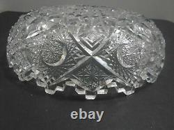 Vintage Clark Prima Donna Cut Crystal Glass Abp American Brilliant Period Bowl