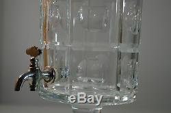 Vintage Crystal Cut Large Liquor Fountain Spigot Dispenser Cristal De Sevres