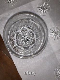 Vintage Deep Cut Crystal Wine Glasses SET of (11) Elegant Goblets