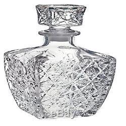 Vintage Glass Decanter Wine Stopper Bar Liquor Whiskey Bottle Decanter Rocks Cut