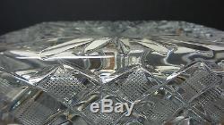 Vintage Heavy Cut Crystal Brass Mounted Jewelry Casket / Dresser Box