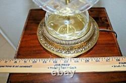 Vintage Lead Crystal Cut Table Lamp Lead Cut Glass Prisms