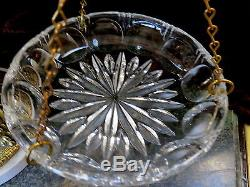 Vintage Marble Base Weight Scale CUT GLASS CRYSTAL DROPS & PLATES, CHERUB ITALY