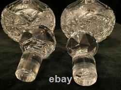 Vintage Pair of Clear Crystal, Cut Glass, Perfume bottles with Stopper