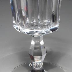 Vintage Set Of 8 Baccarat Cut Crystal Polignac Water Goblets