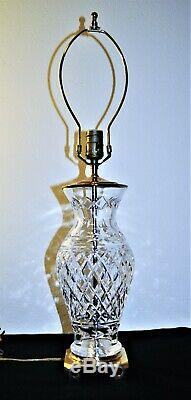 Vintage Waterford Crystal Ireland Glandore Cut Crystal Lamp
